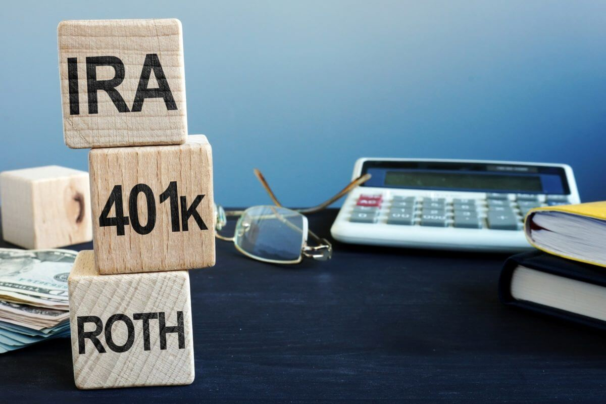 """IRA, 401K & ROTH"" Is written at blocks - Greenberg Financial Group"
