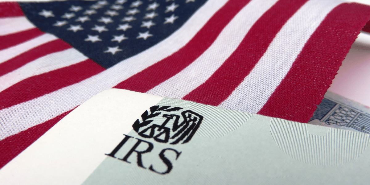 IRS and American flag