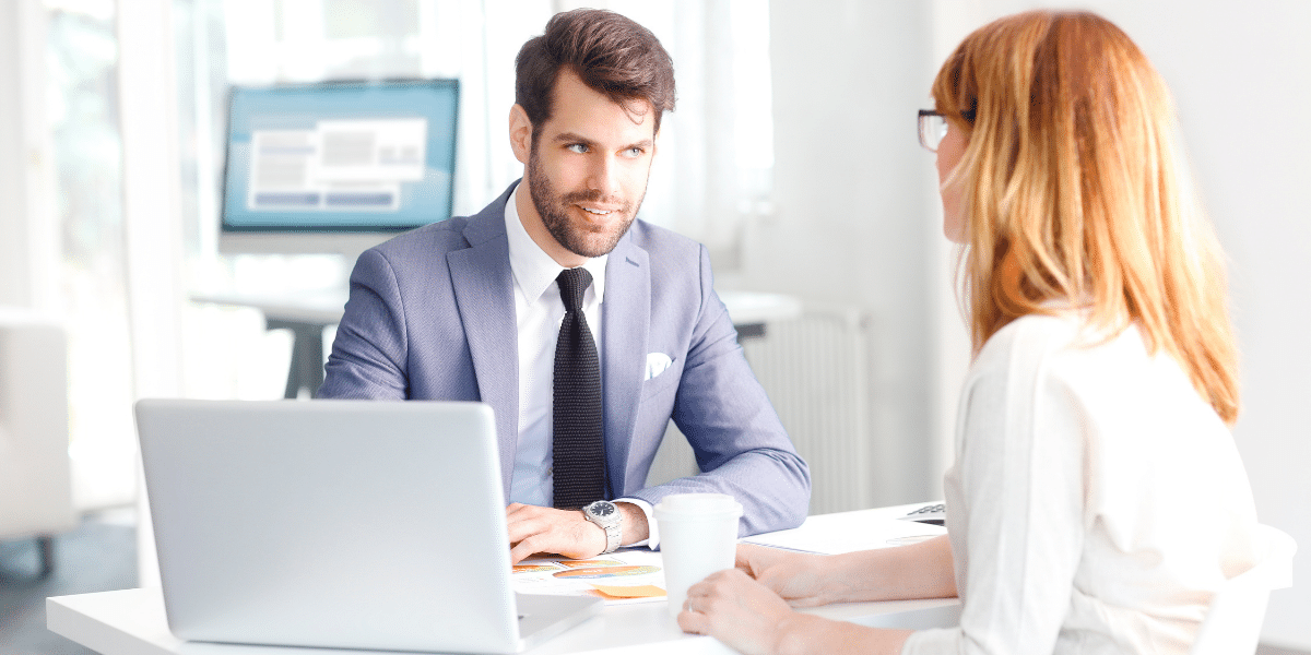 man giving advice to a client
